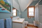 Blue bathroom at 453 Dobbie