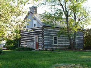 Restored log cabin at 453 Dobbie Road, Lanark, Ontario
